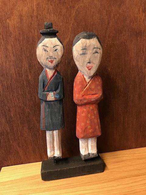 木の人形 男女
