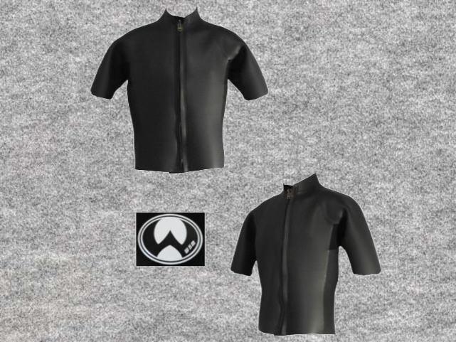 特別価格既製品ダイビングフラットスキン3x3mm半袖タッパ立衿wsm1713FSK