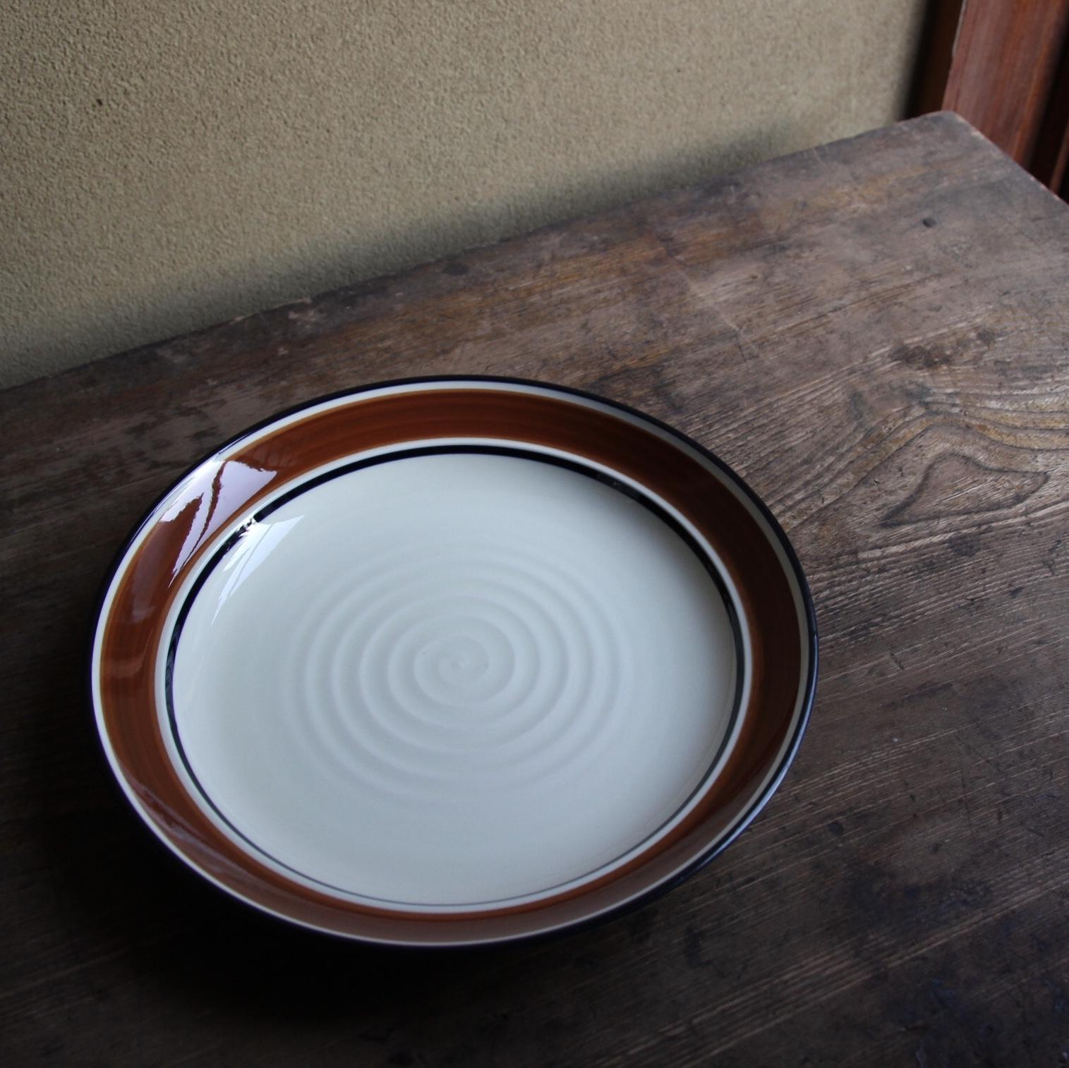 sango ブラウンラインのカレー皿 在庫2枚