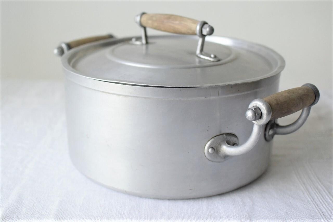 フランスアンティーク アルミの両手鍋