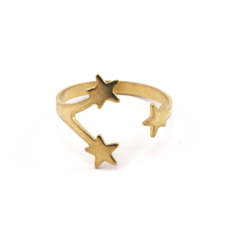 Raw brass Rings - Starリング N0.12