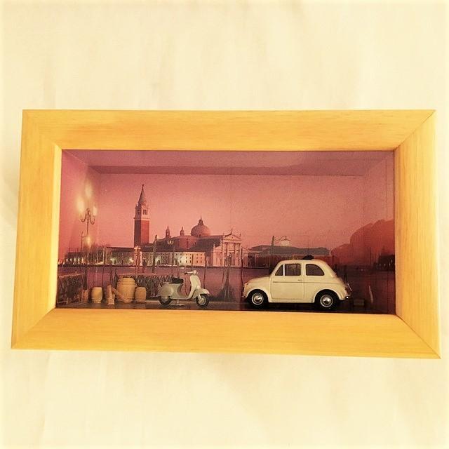Diorama realizzato con modello Fiat 500 Vitess 4820 1/43【RE-PLAY】【1個のみ】【税込価格】