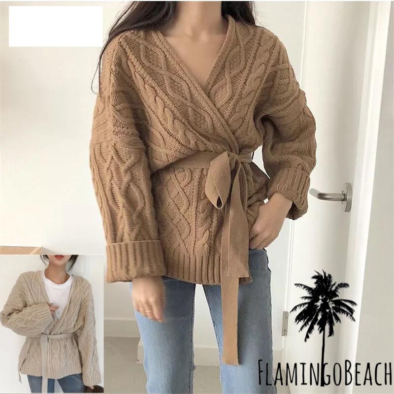 【FlamingoBeach】camel knit ニット