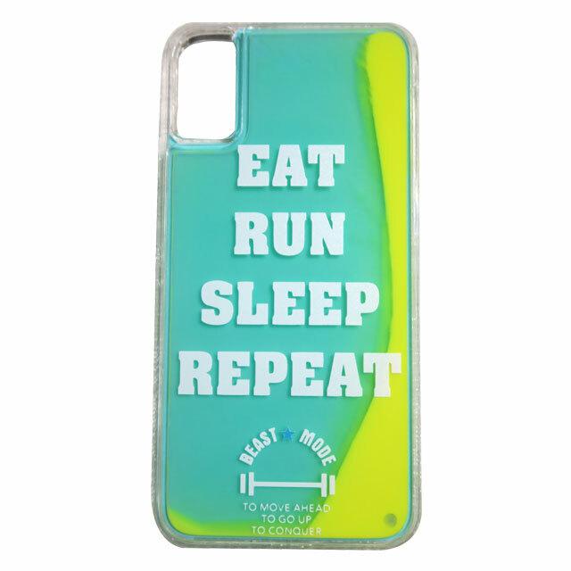 EAT RUN SLEEP REPEAT ネオンサンドiphoneケース
