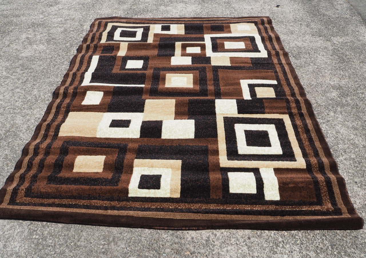 品番4026 ラグ マット ブラック×ブラウン EMIRATES 508  Rug mat 011