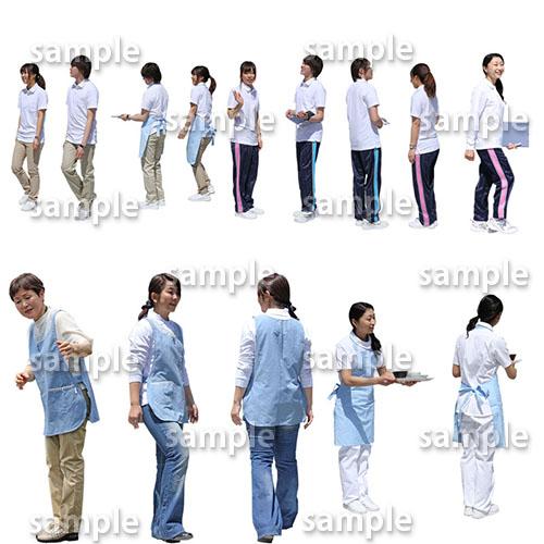医療人物SketchUp素材10個 4p_set051 - 画像2
