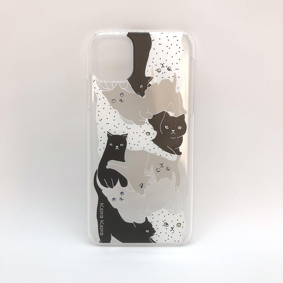 【iPhone11 Pro Max】アクリルケース CATS MONOTONE
