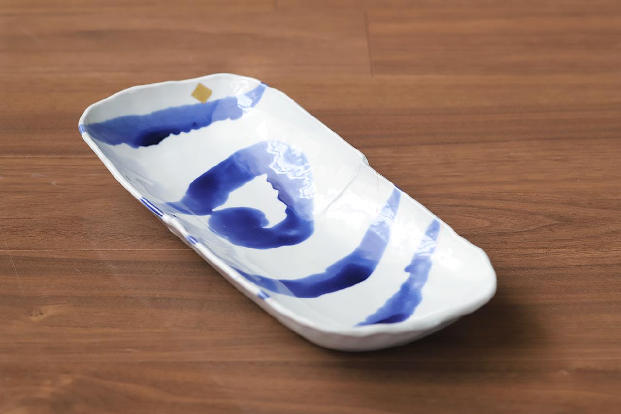松尾貞一郎 楕円長皿 201006-K15 貞土窯(有田焼)