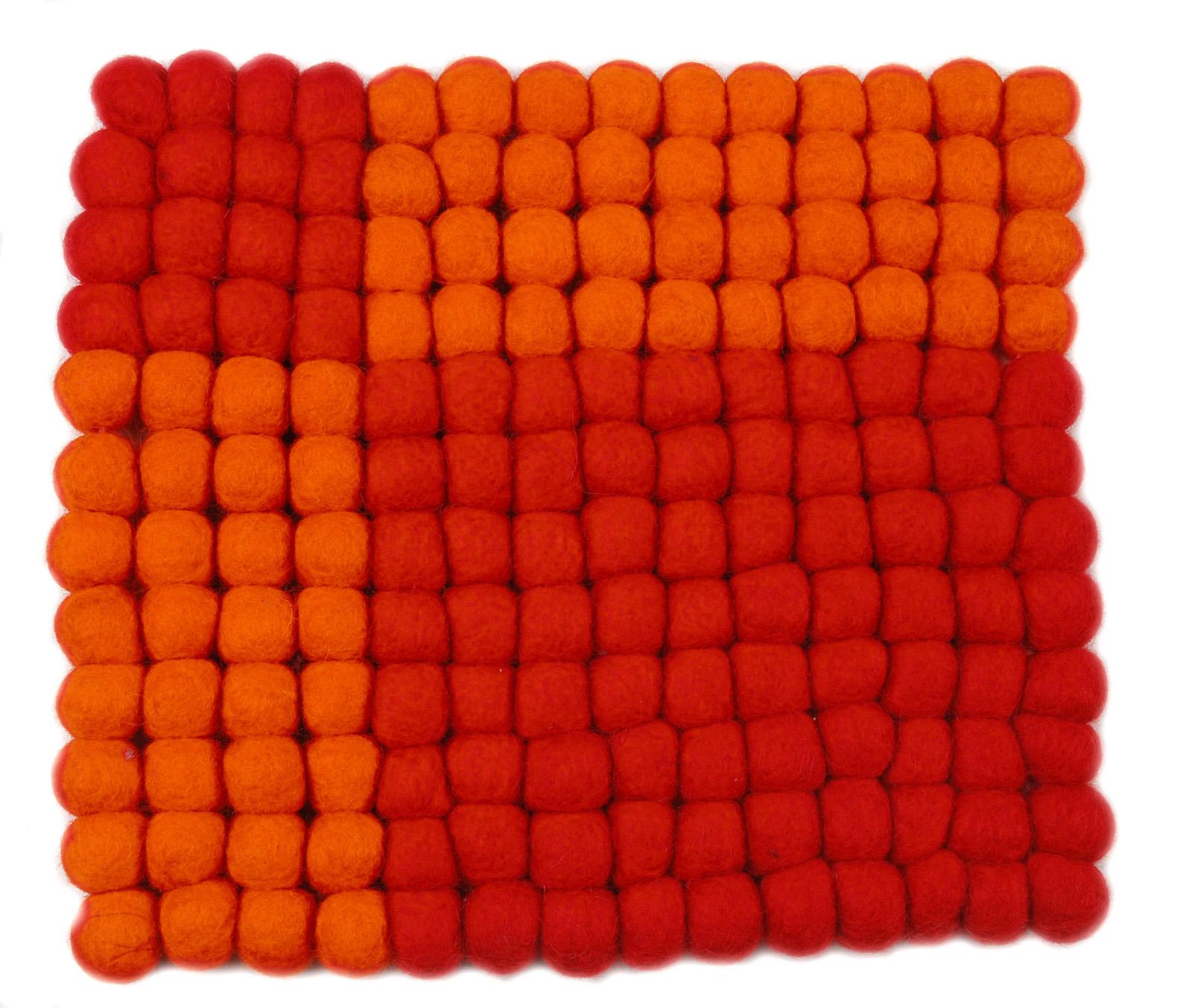 ポットスタンド角 レッドxオレンジ