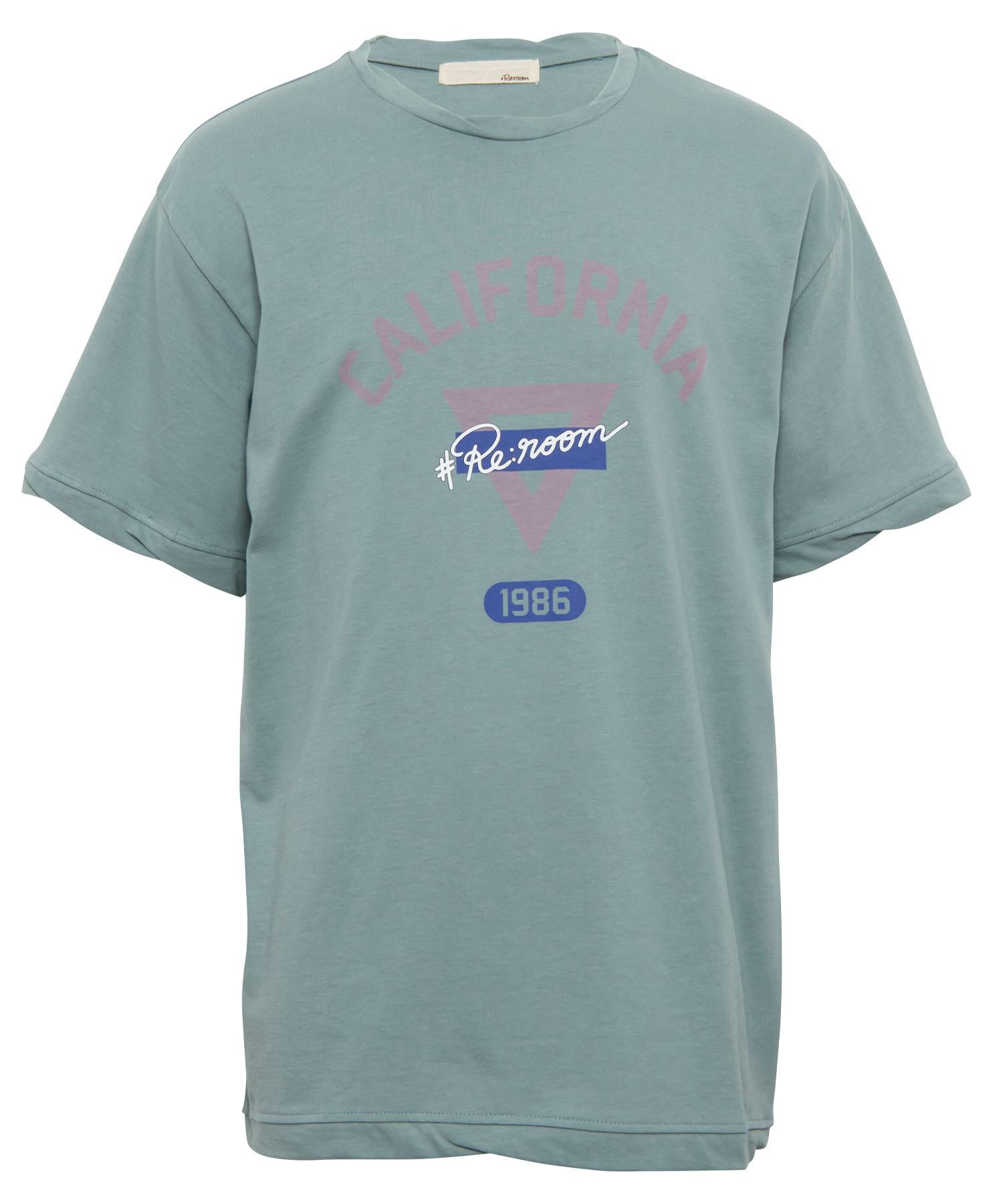 TWIST RIB CALIFORNIA 1986 PRINT T-shirt[REC402]