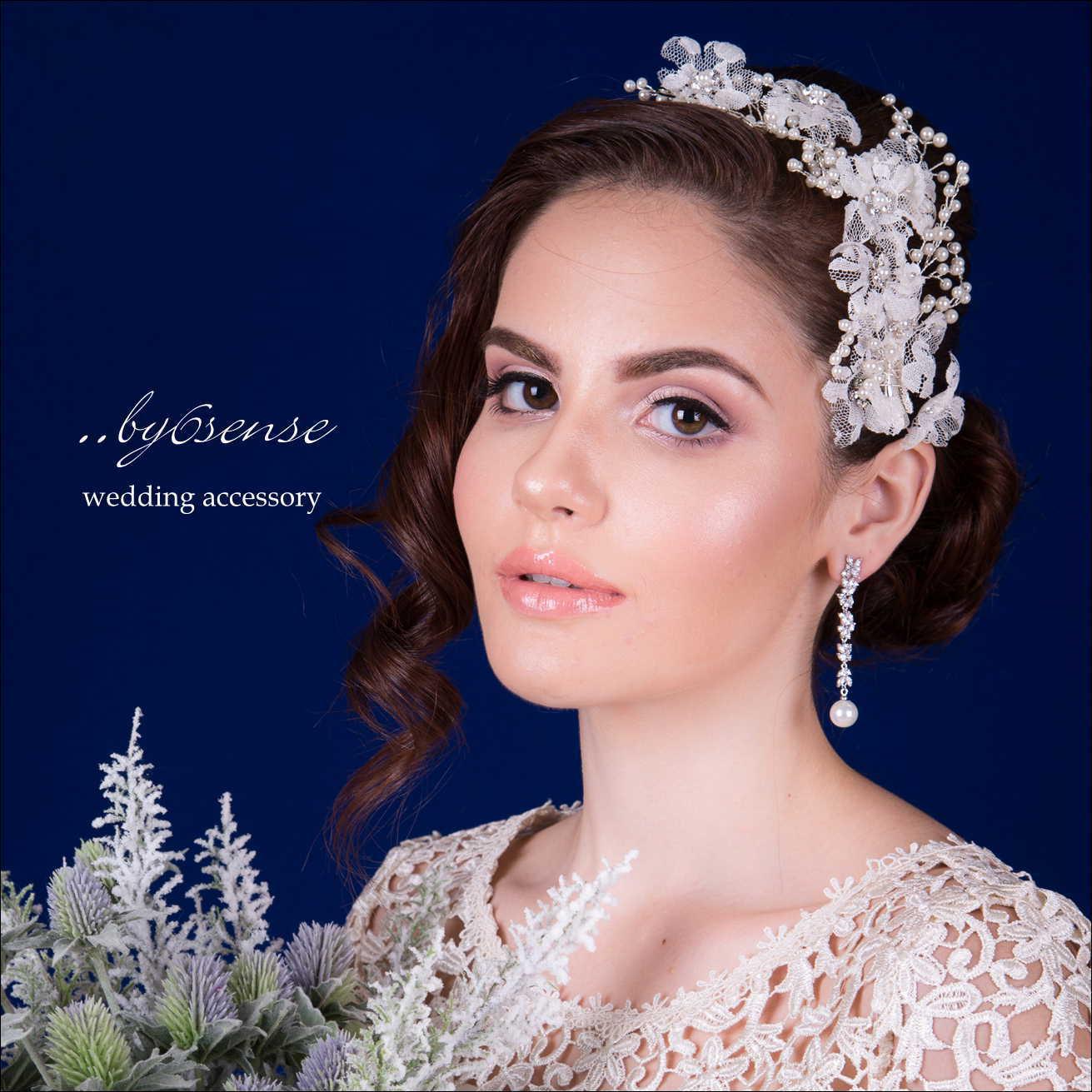 ウェディングヘアアクセサリー レース&パール クリップタイプ weddingaccessory オフホワイト