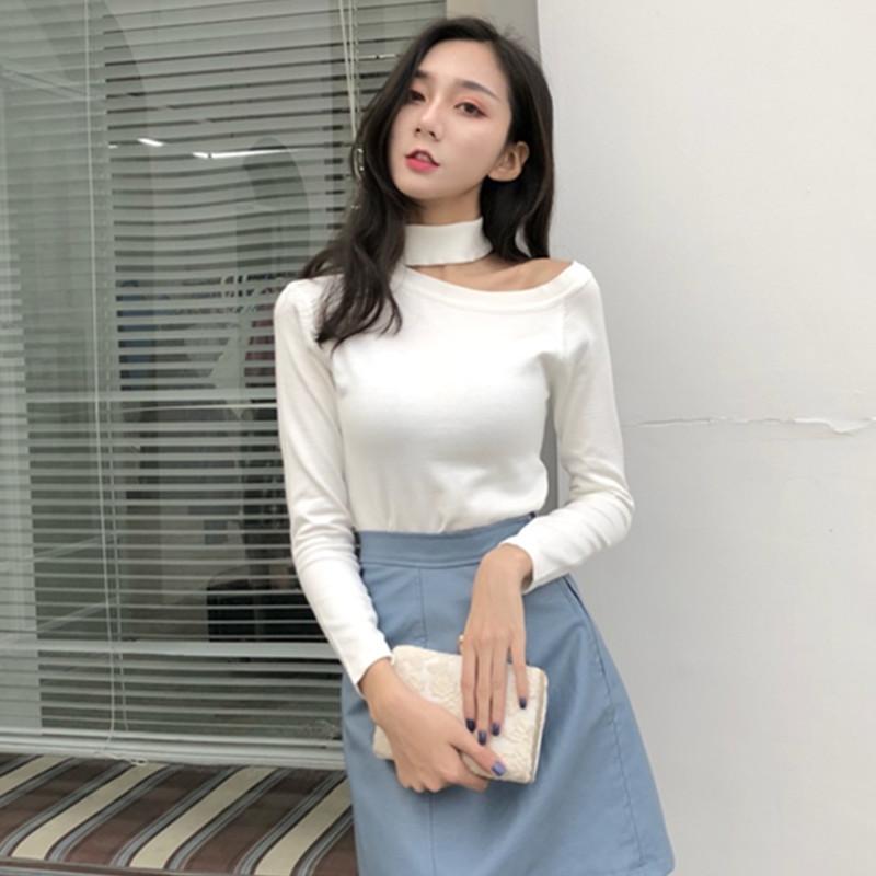 「トップス」売れ筋オススメファッションセクシーオーペンショルダ4色カジュアルtシャツ