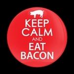 ゴーバッジ(ドーム)(CD0774 - KEEP CALM & EAT BACON) - 画像1