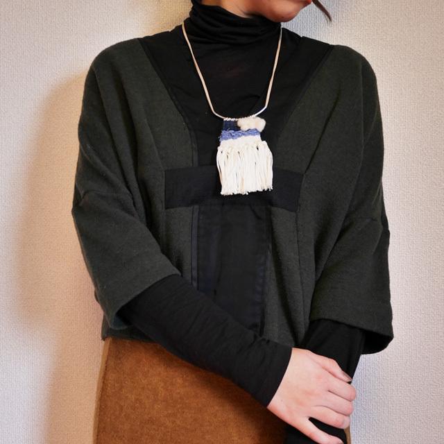 ≪オリジナル≫手織りネックレス【デニム】