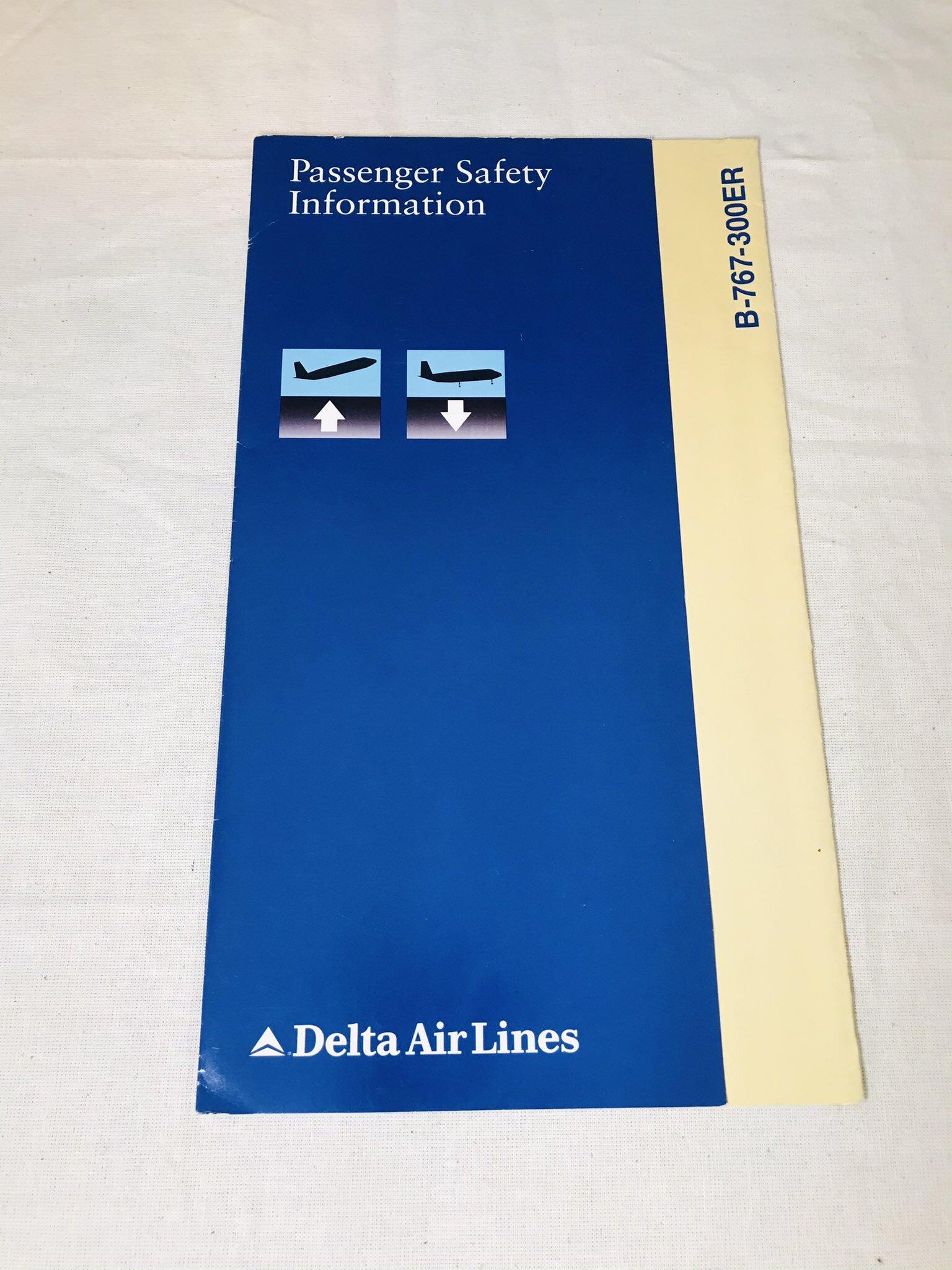 中古品安全のしおり/737-300ER デルタ航空