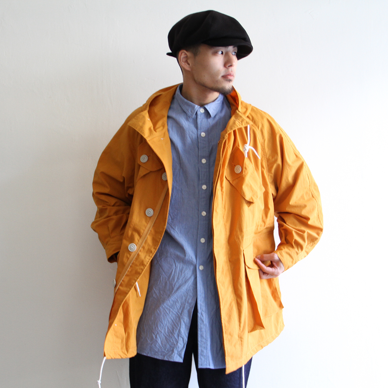 H.UNIT【 mens 】nylon combat coat