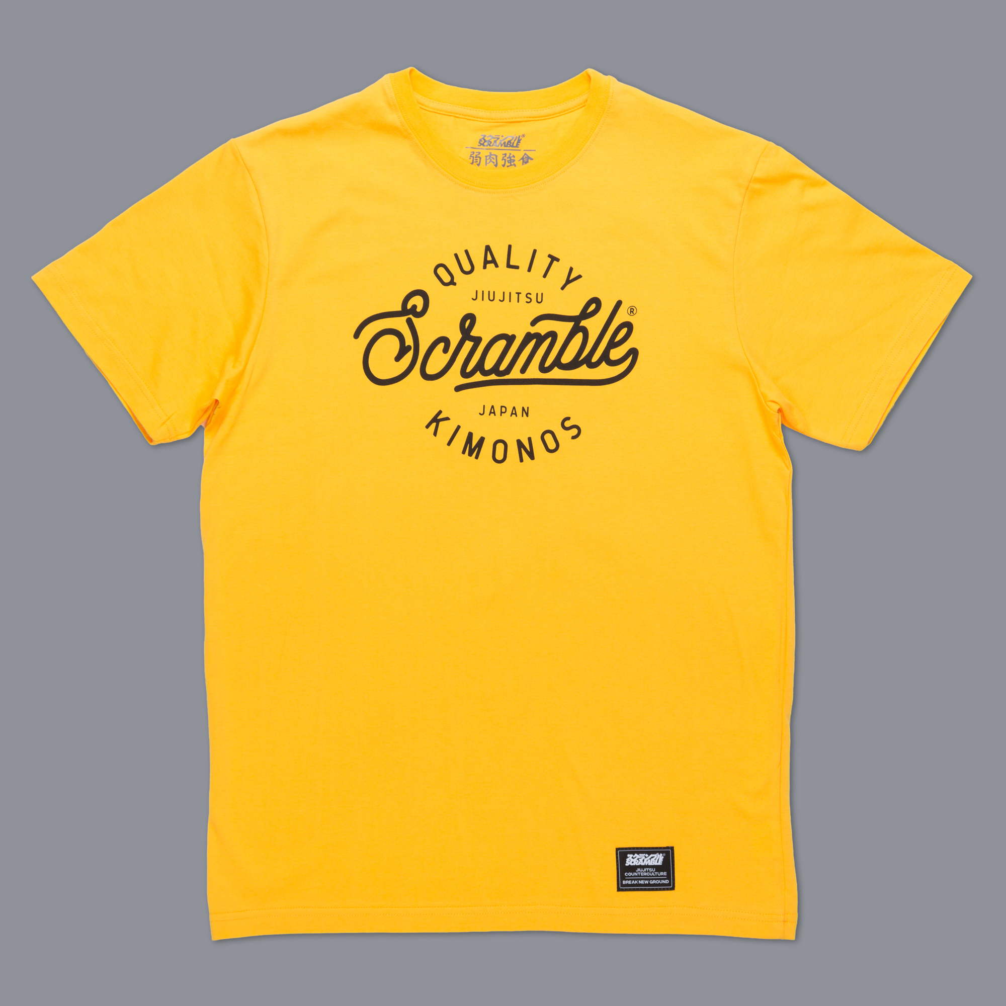 Scramble Quality Kimonos Tee - Yellow|格闘技、柔術Tシャツ