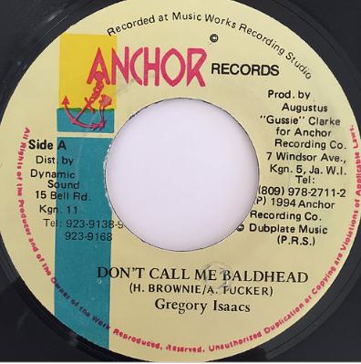 Gregory Isaacs(グレゴリーアイザックス) - Don't Call Me Baldhead【7'】