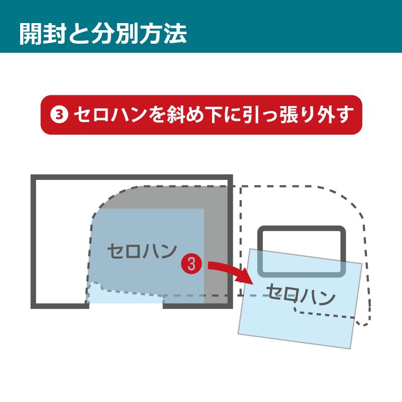 【はがセロ®】長3封筒 白(地紋入)1,000枚