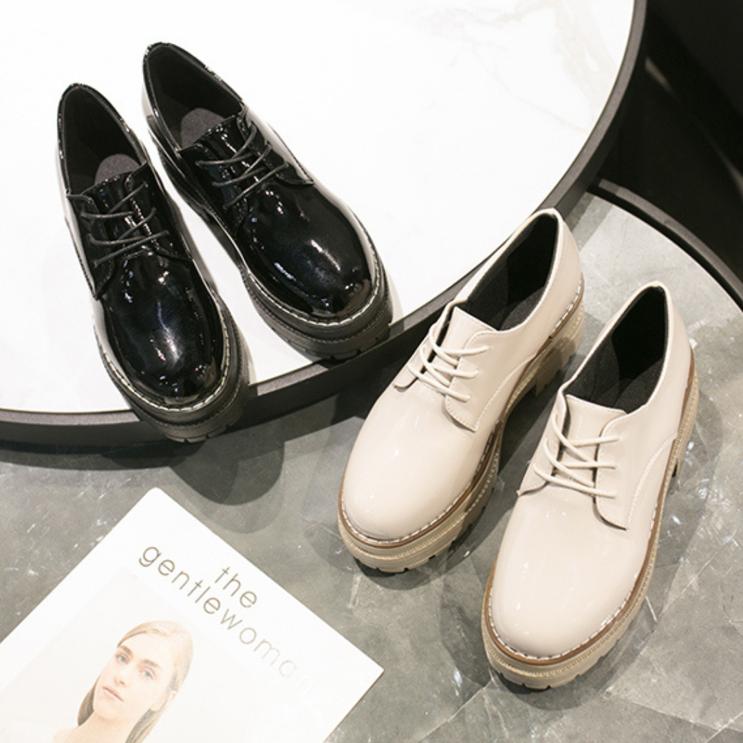 フレンチ厚底おじ靴【French platform uncle shoes】
