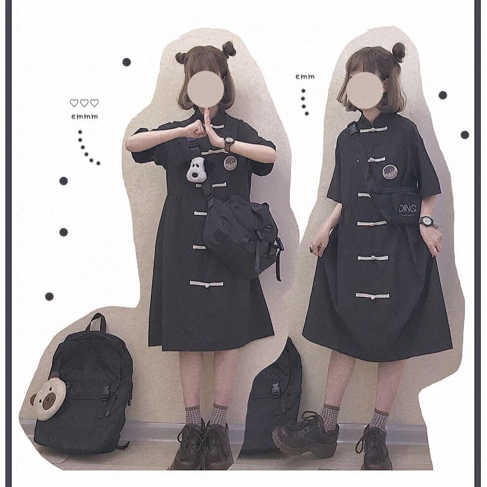 【dress】レトロ民族風切り替えカジュアルワンピース20640923