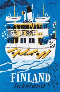 レトロポスター50x70 「レイクランド」 EB