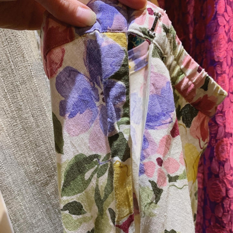 vintage Euro linen mix skirt