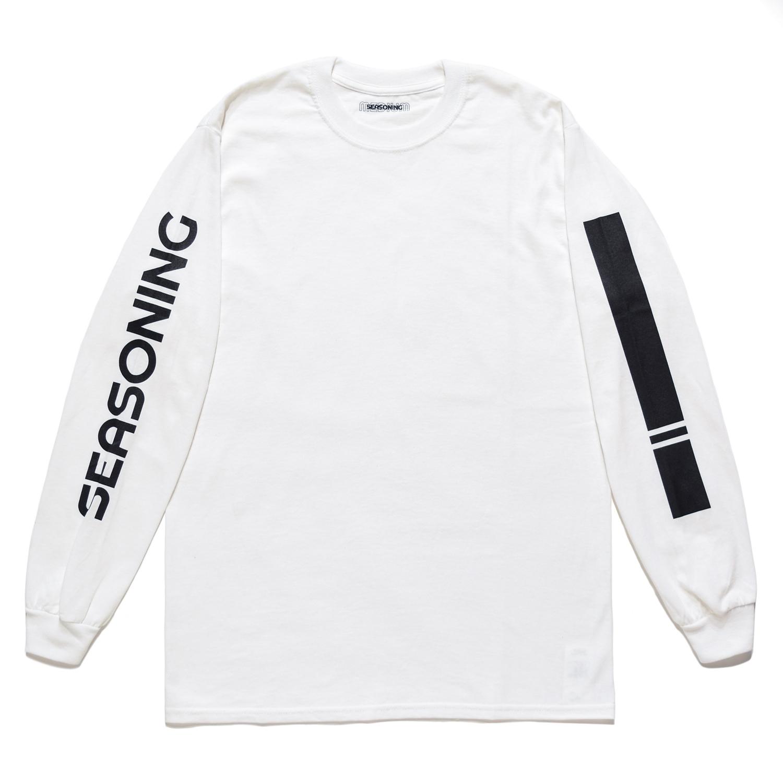 SEASONING LOGO L/S TEE  - WHITE
