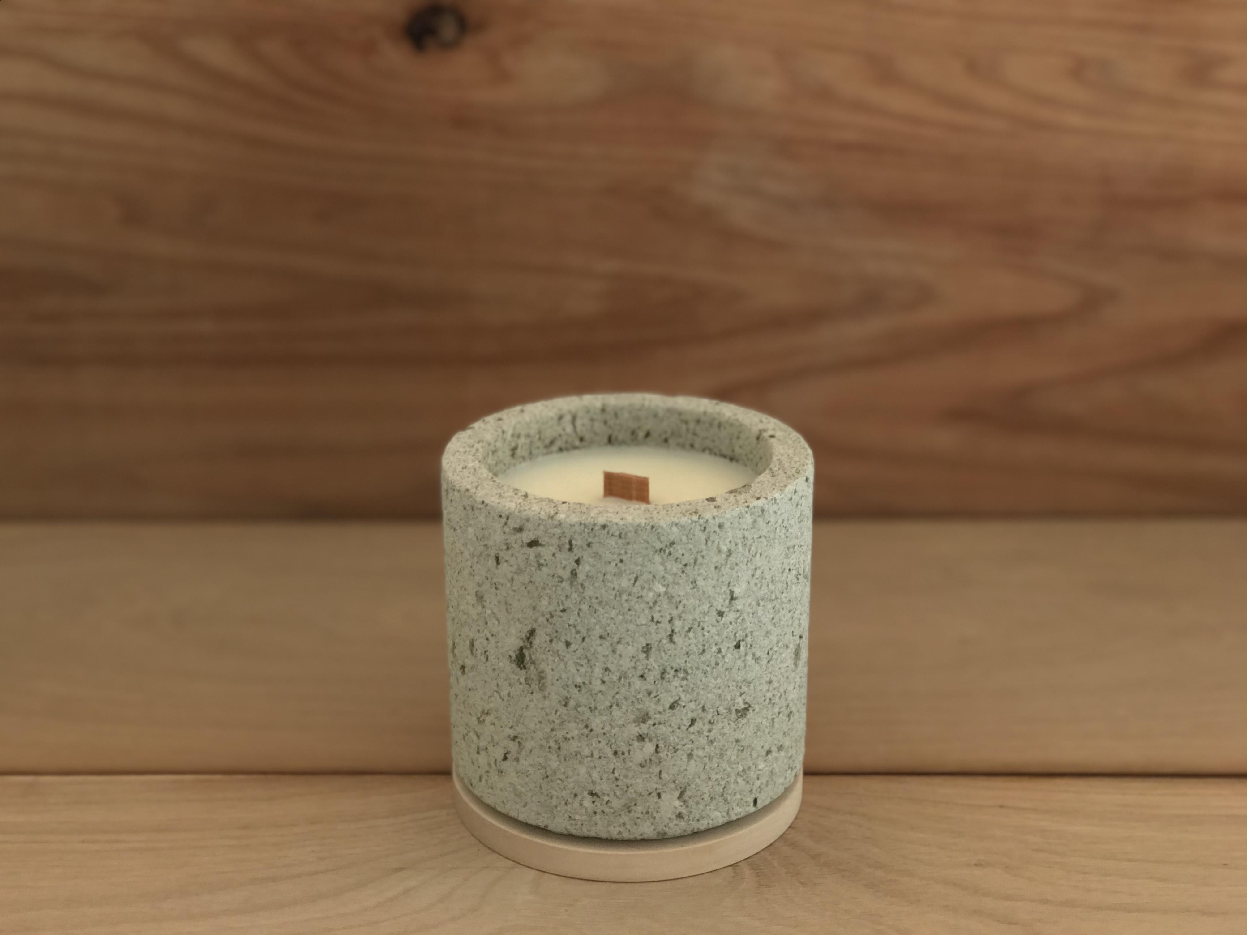 【NEW】takibi (cylinder) 大谷石 キャンドル