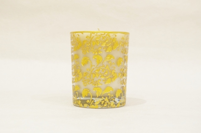 Hibiscus Glass/Gold