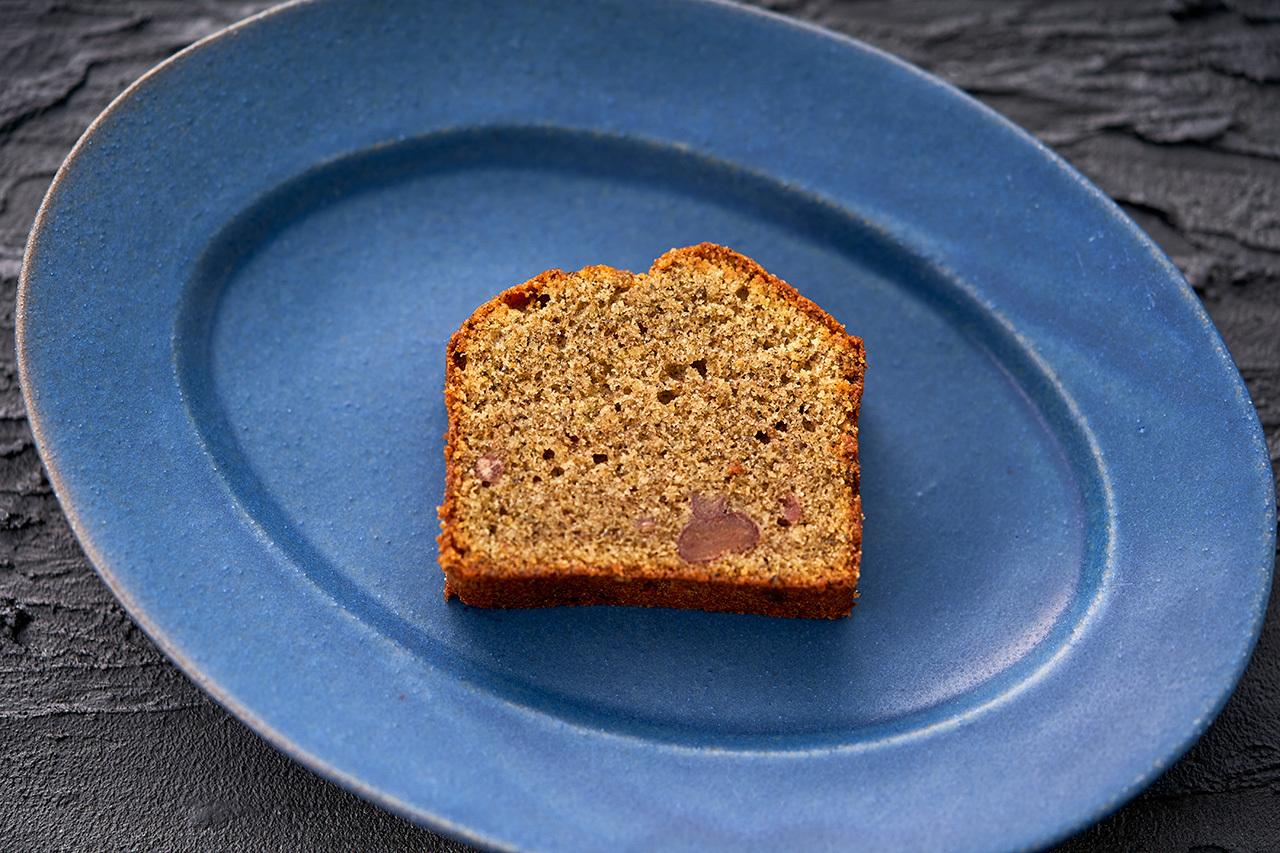 パティシエ特製パウンドケーキ ほうじ茶小豆入り
