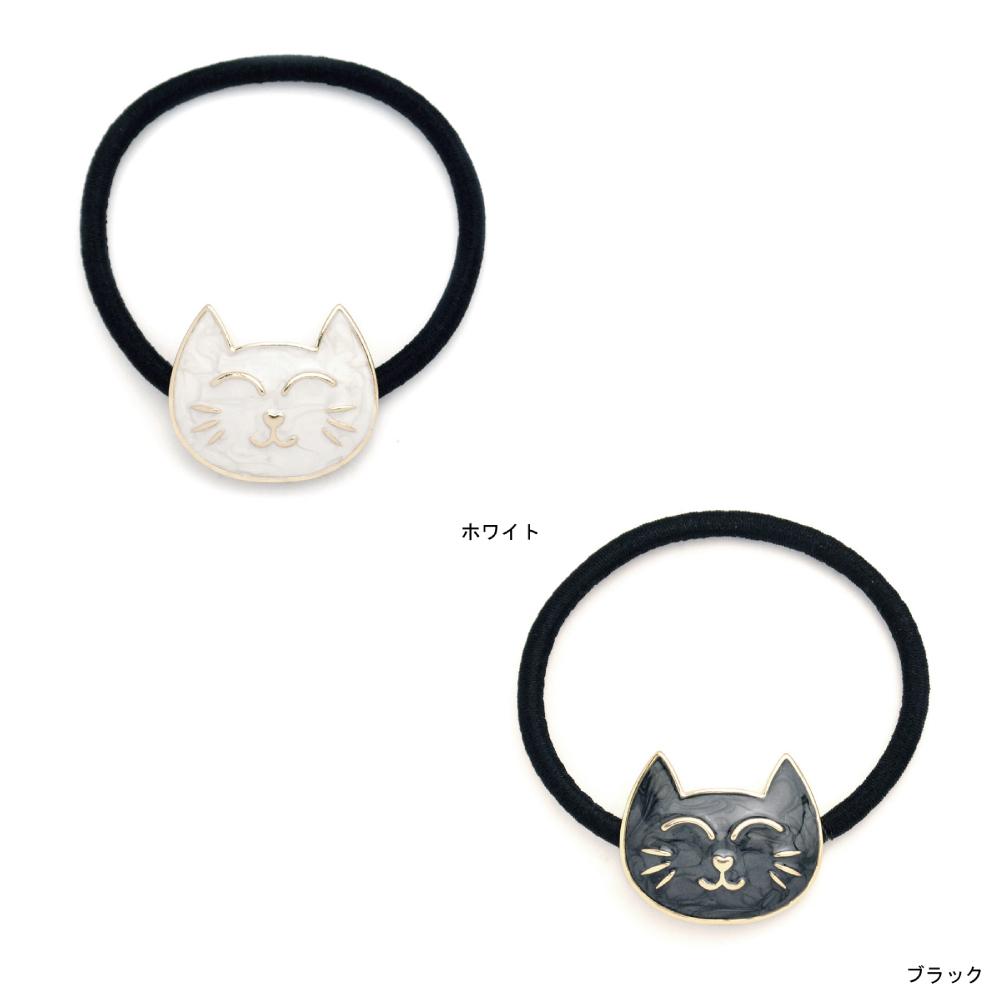 猫ヘアゴム(マーブルキャット)