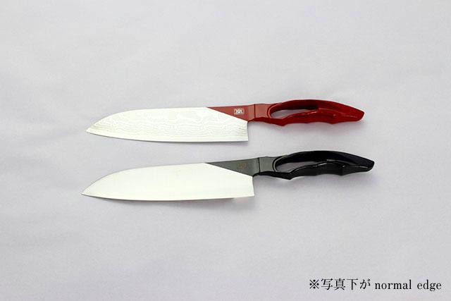 包丁 漆 三徳170mm ブラック / レッド