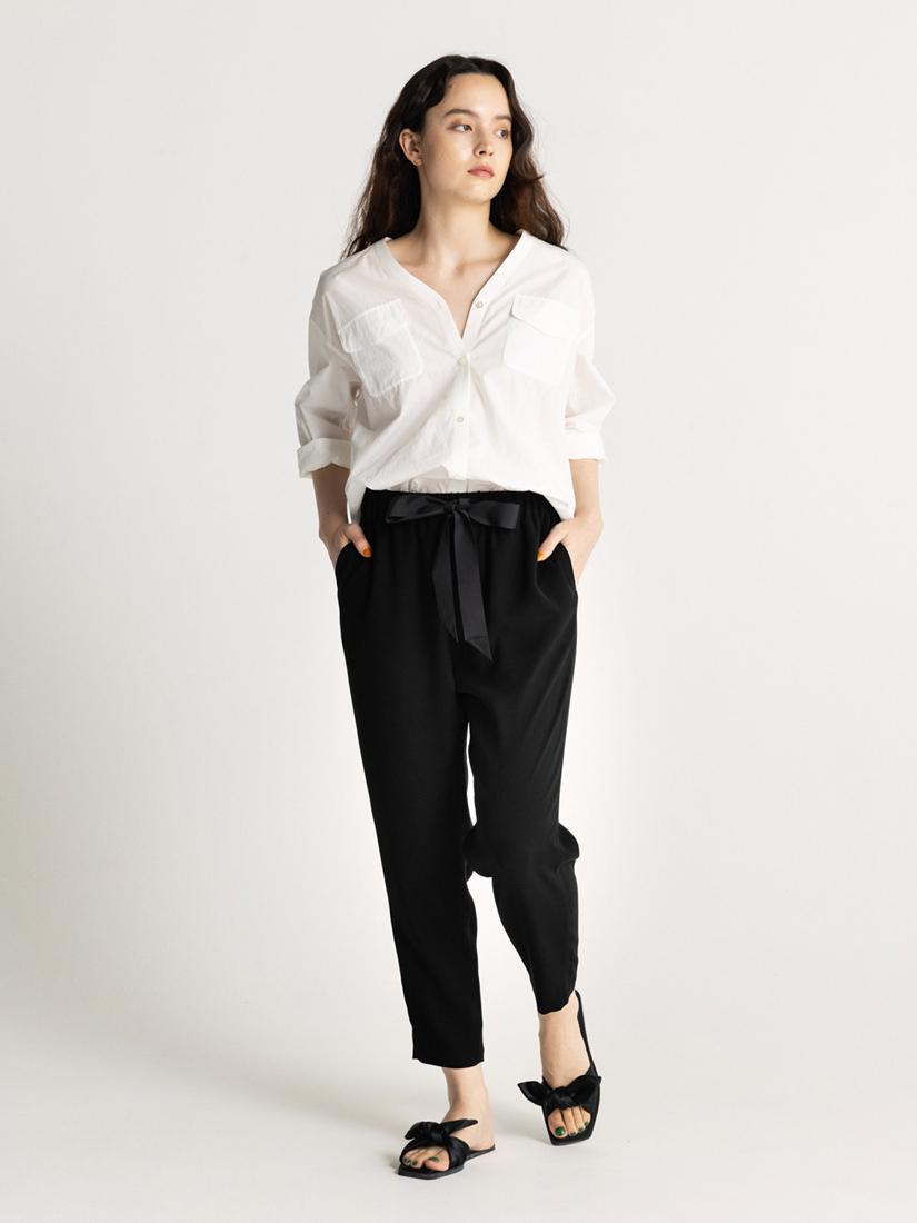 summer tapered ribbon pants