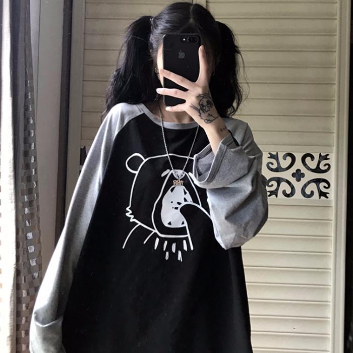 【tops】プリントシンプルラウンドネックTシャツ23894880