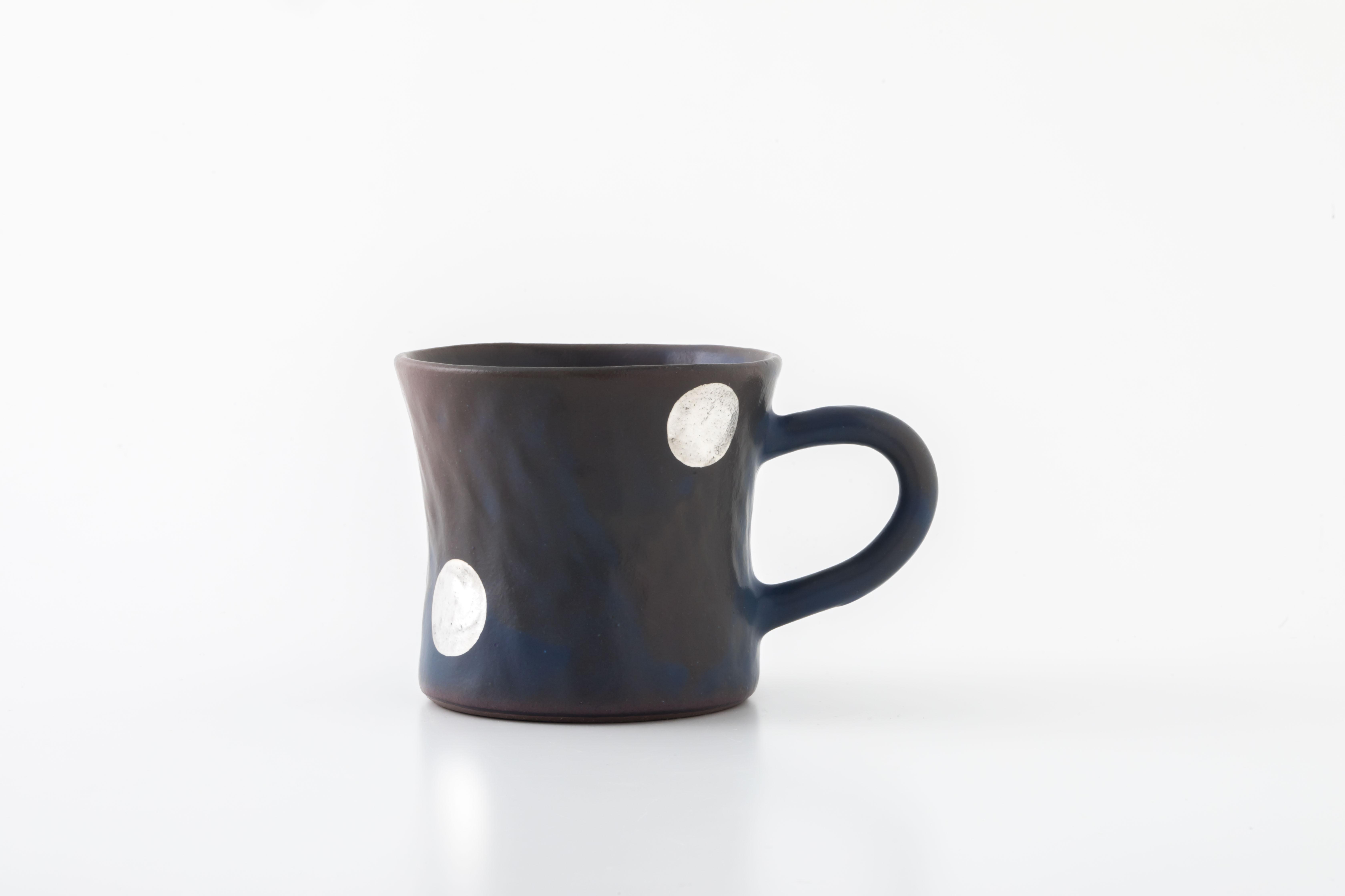 diner mug:銀ドット(06-4) / holk store × 中囿義光