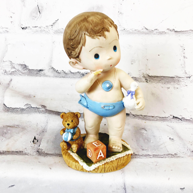 品番1461-2 赤ちゃん人形 置物 ベイビー 男の子 ドール インテリア ディスプレイ ヴィンテージ