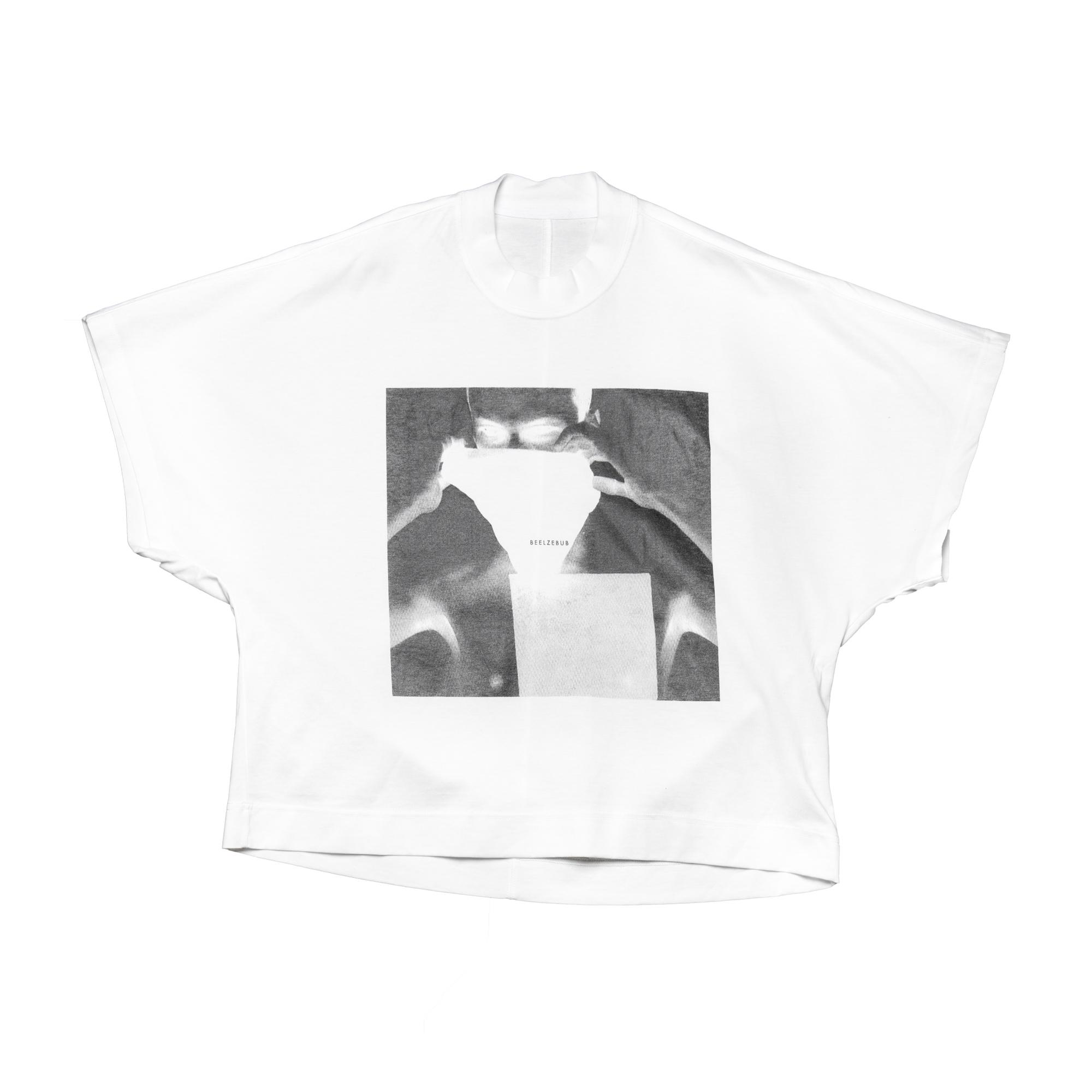 658CPM4-WHITE  / プリントカイトTシャツ