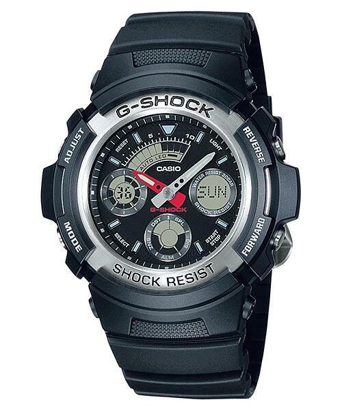 CASIO  カシオ G-SHOCK AW-590-1 アナデジベーシックモデル メンズ 腕時計