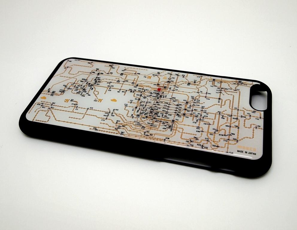 関西回路線図 iphone6/6s  case 白【LEDは光りません】【東京回路線図A5クリアファイルをプレゼント】