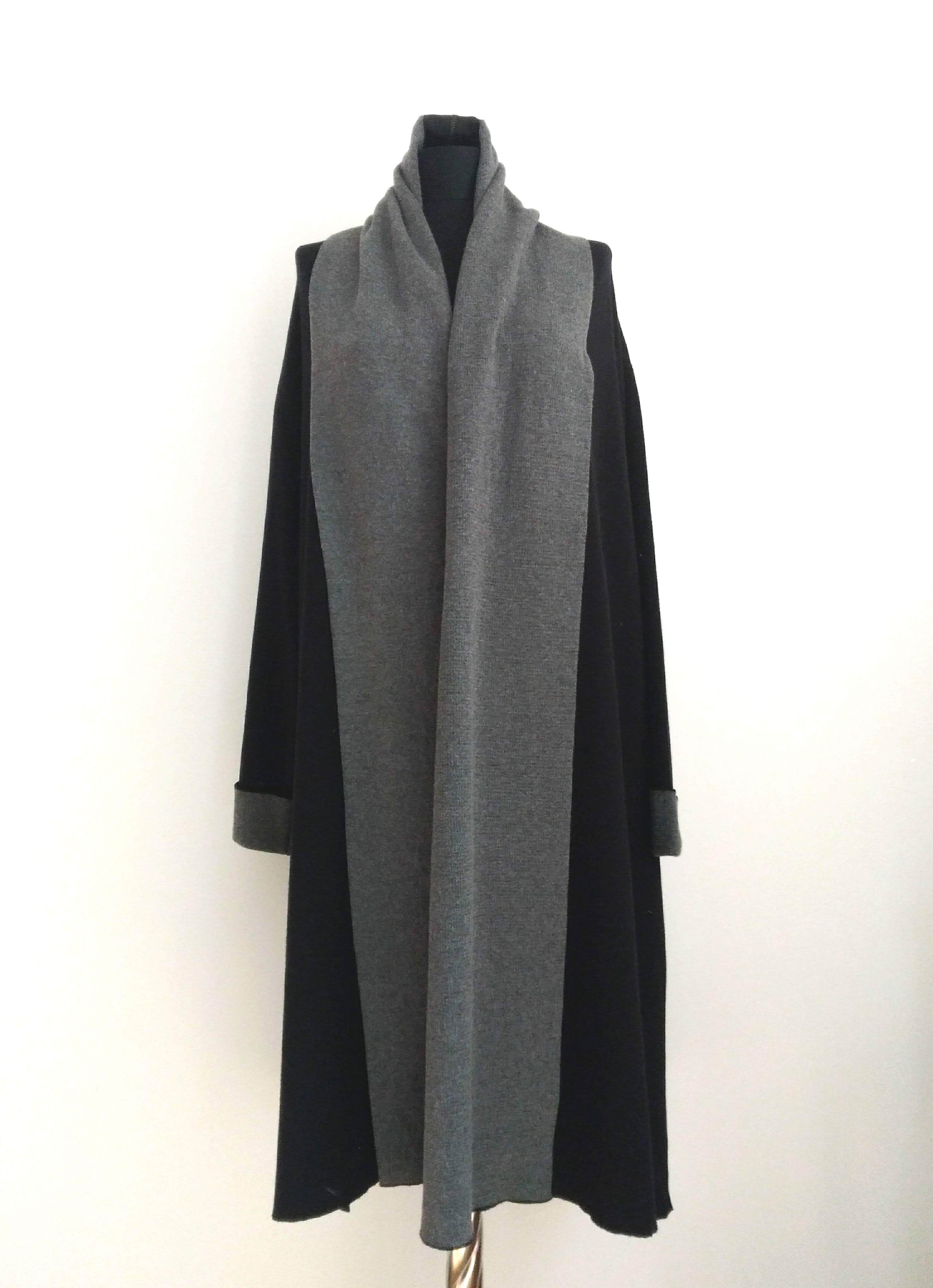 Cotton100% Knitting coat Navy&Chacole  コットンニットコートネイビー&チャコール
