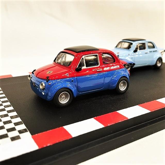 Fiat Abarth 595SS Asetto Corsa Diorama1/43【CarPin Models】【1個のみ】【税込価格】