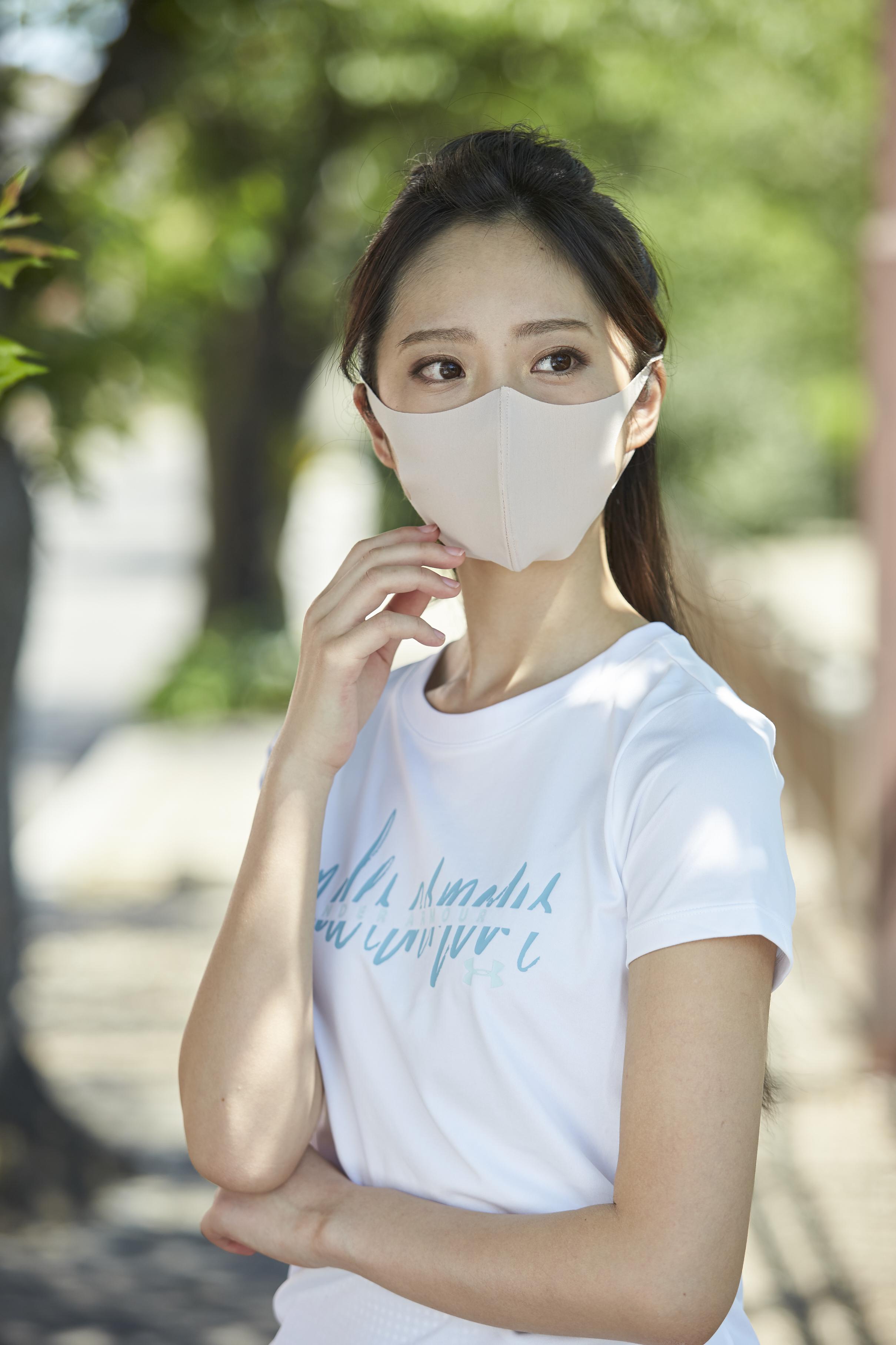 夏用マスク さらピッタ Sサイズ 無地2枚セット 接触冷感・UVカット・吸汗速乾 #106