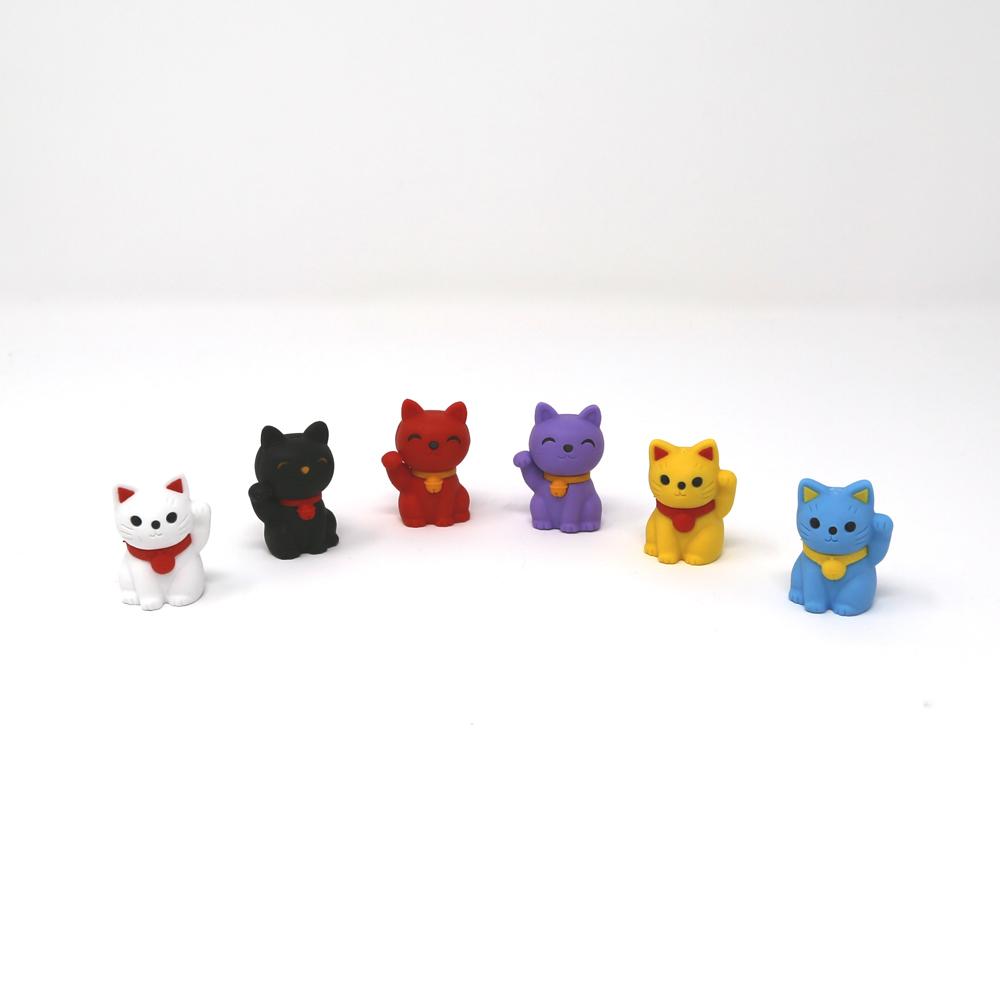 猫消しゴム(招き猫消しゴム)全6種類1セット