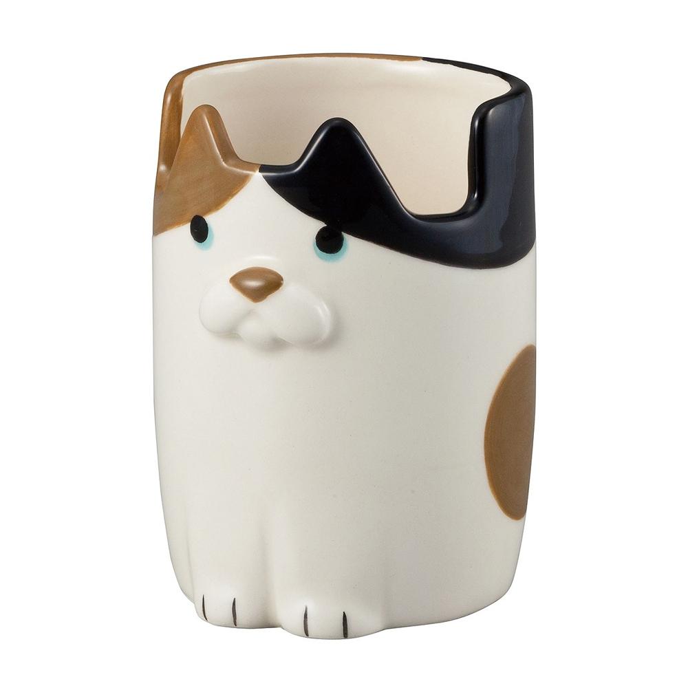 猫メガネかけペンスタンド(みけカップ)