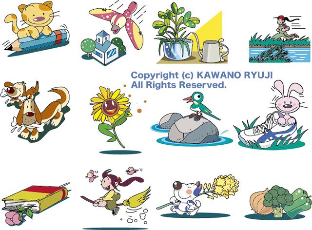 児童書カット集_(.aiベクターデータと長辺640ピクセルのJPGデータを同包)