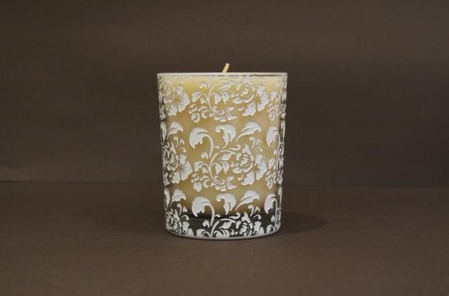 Hibiscus Glass/White