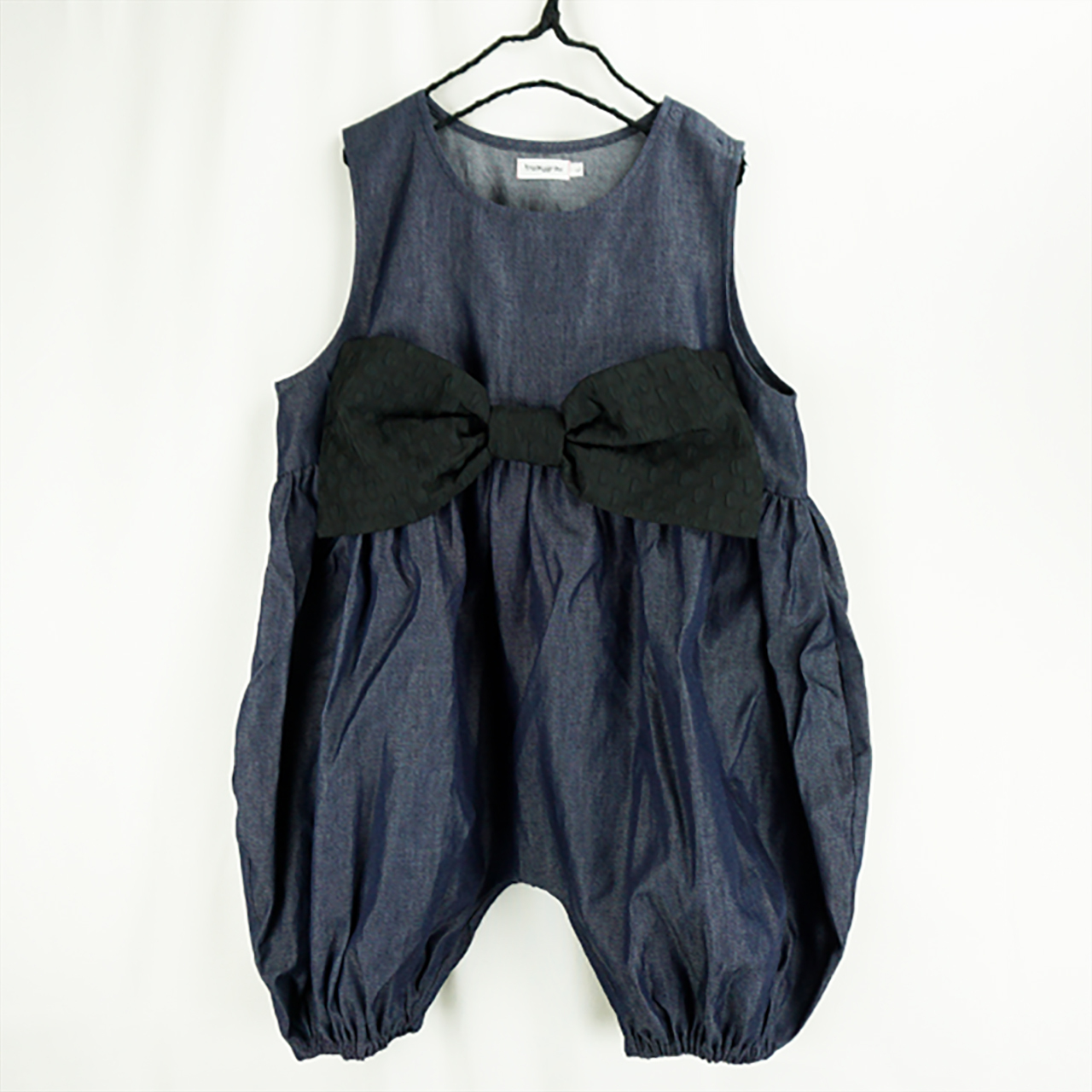 BIG RIBBON DENIM OVERALL / LL