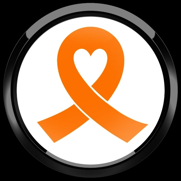 ゴーバッジ(ドーム)(CD0983 - ORANGE RIBBON WHITE (LEUKEMIA)) - 画像2