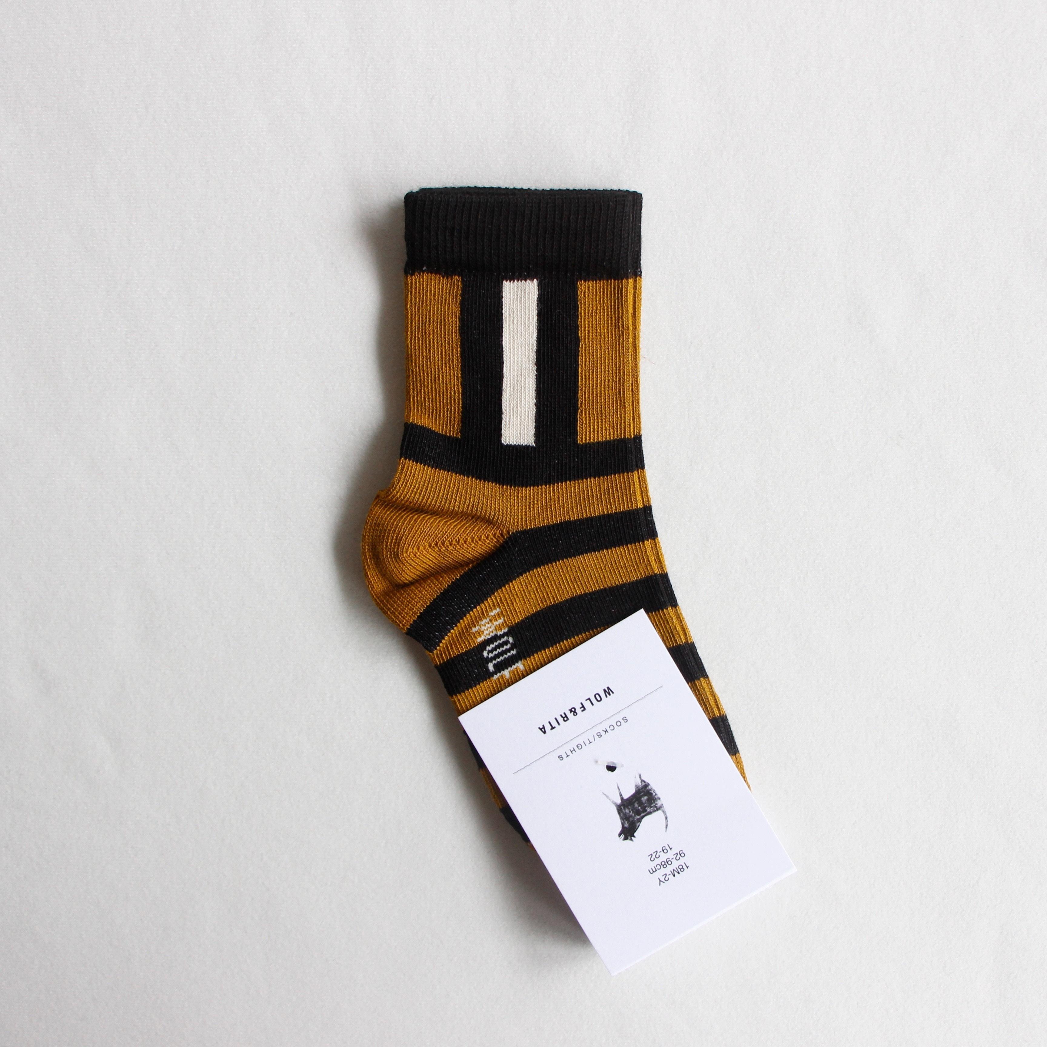 《WOLF & RITA 2020AW》SOCKS stripes / honey